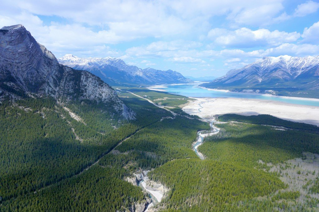Helicopter In The Canadian Rockies  Happy Anniversary