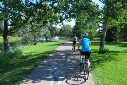 Cycling Bower Ponds Red Deer