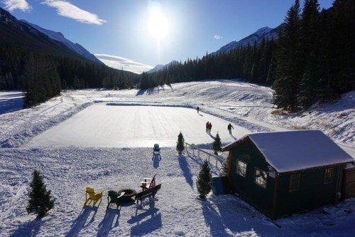 Ice skating Banff