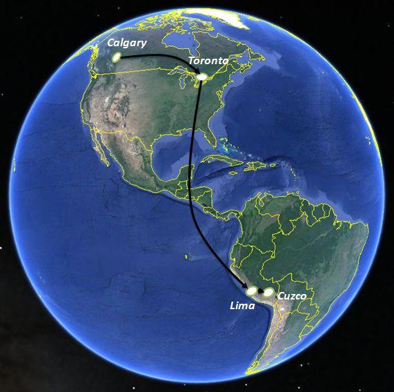 Galapagos On World Map.Peru And Galapagos Itinerary And Maps Travel Tales Of Life