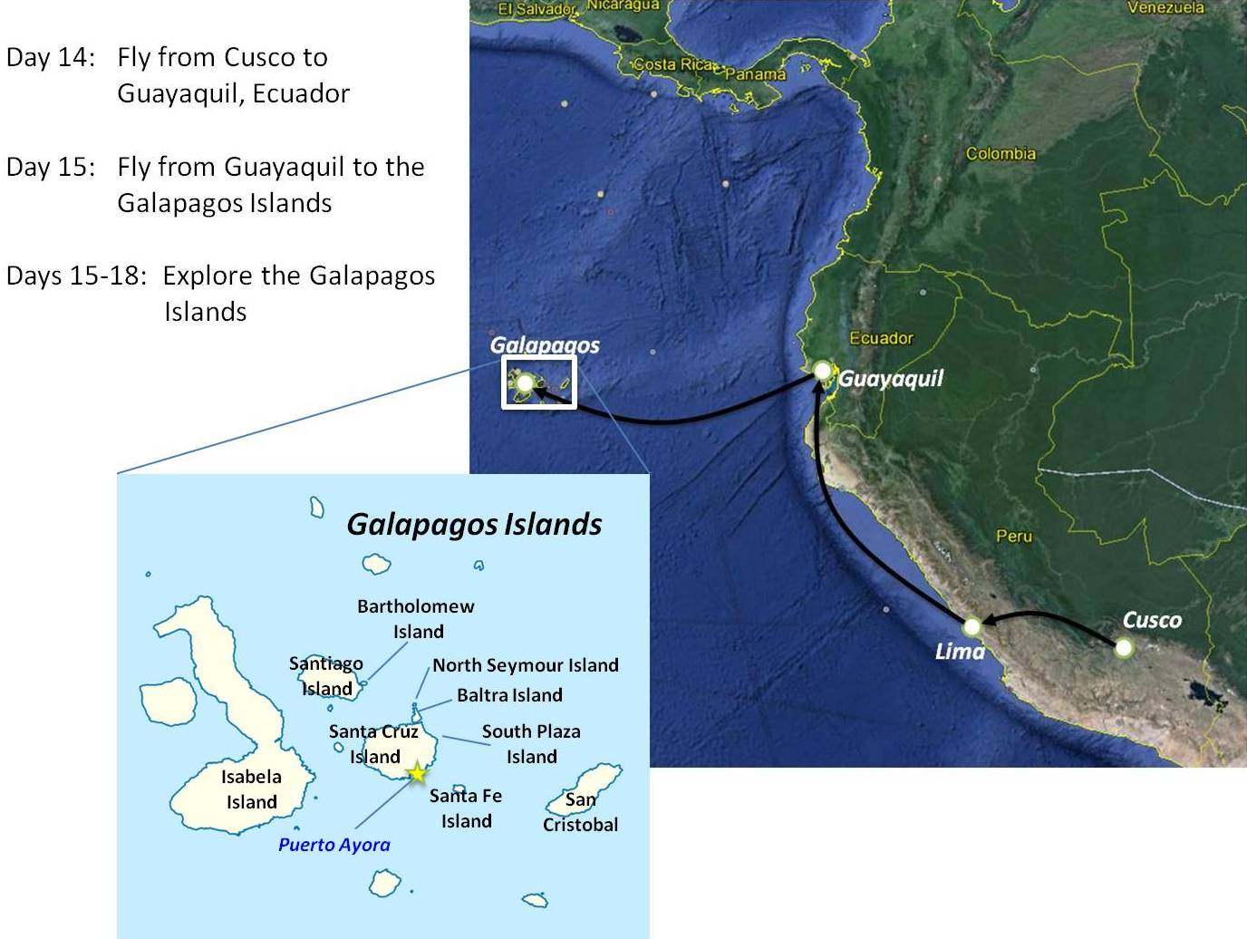 Talking To The Animals On Galápagos Travel Tales Of Life - Map where is the galapagos islands relative to the us