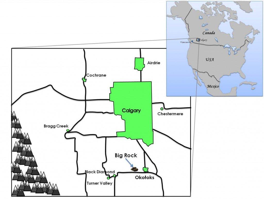 Big Rock Okotoks Map Travel Tales of Life