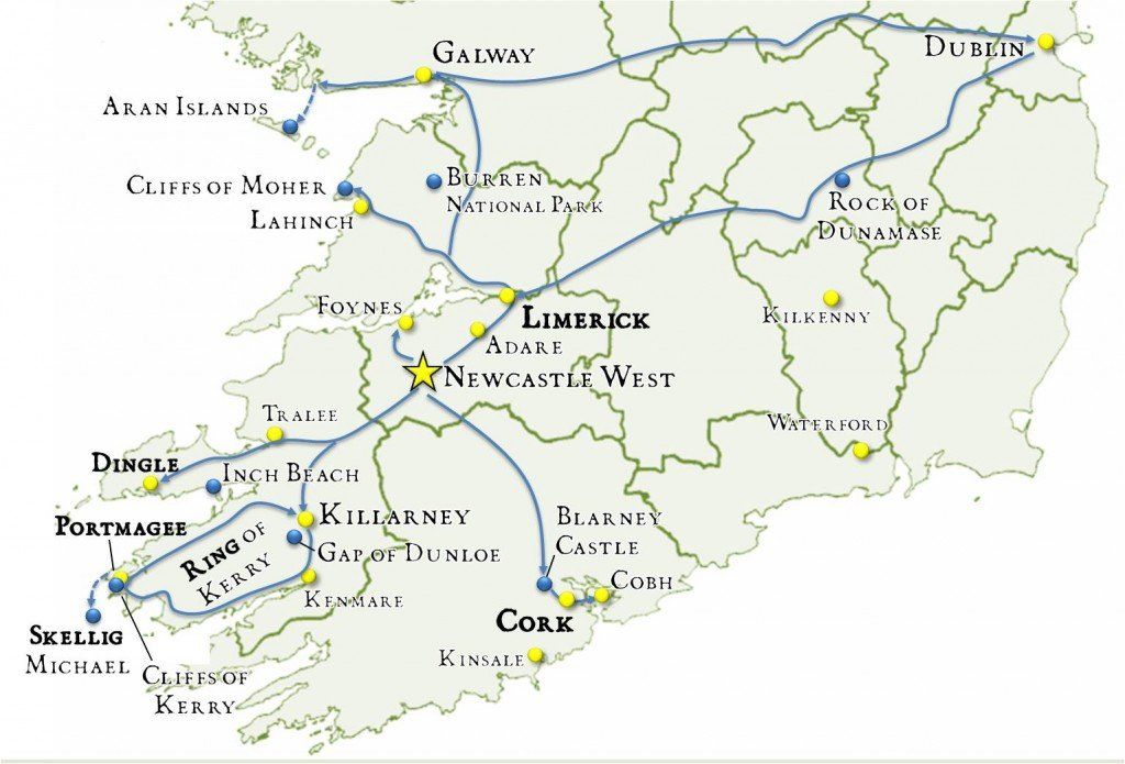Map Of Ireland Showing Dingle.14 Day Hidden Gem Ireland Itinerary A Complete Guide Travel