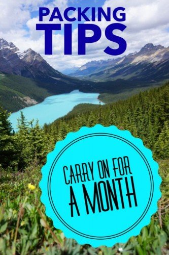 how to pack a carry on for a month